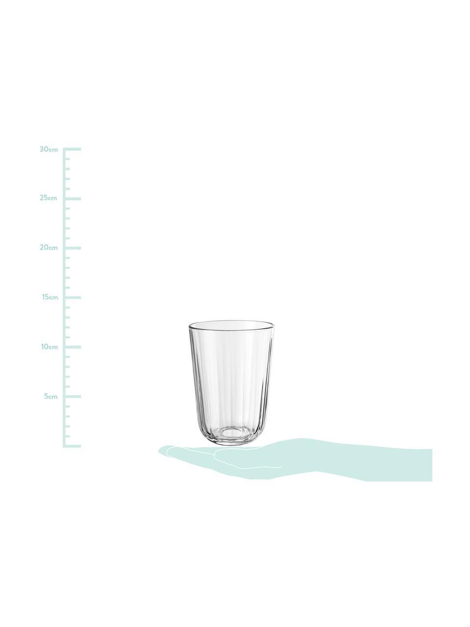 Thermogläser Facette aus gehärtetem Glas, 4er-Set, Glas, Transparent, 340 ml
