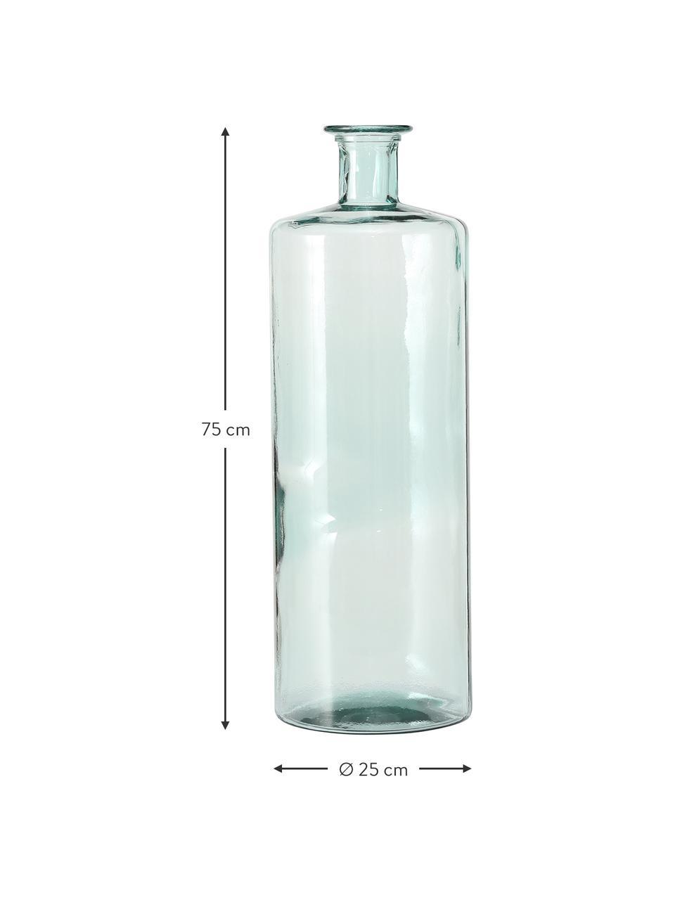 Bodenvase Pavlo aus recyceltem Glas, Glas, recycelt, Grün, Ø 25 x H 75 cm