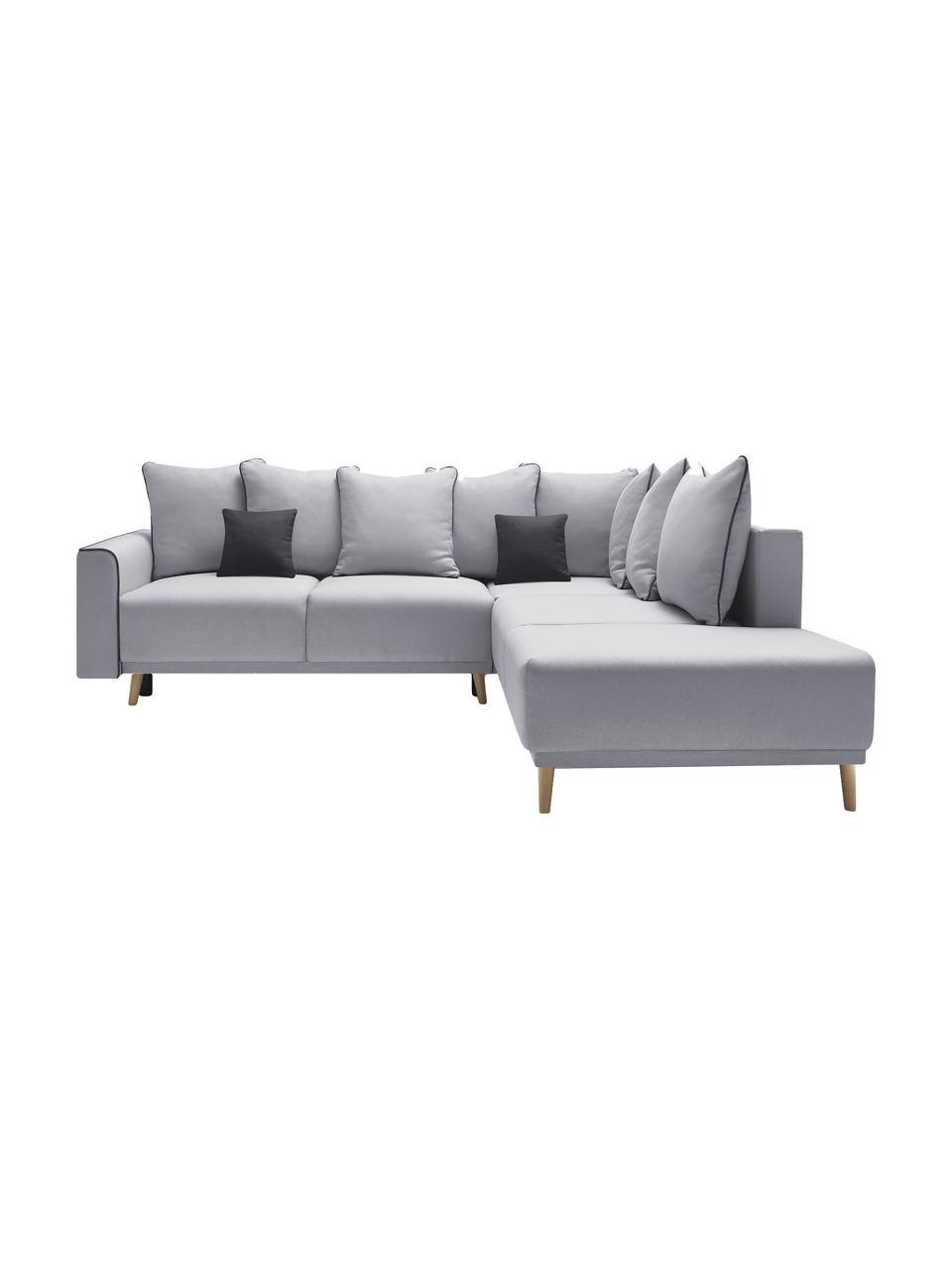 Sofa narożna XXL z funkcją spania i miejscem do przechowywania Mola, Tapicerka: poliester, Szary, S 252 x G 215 cm