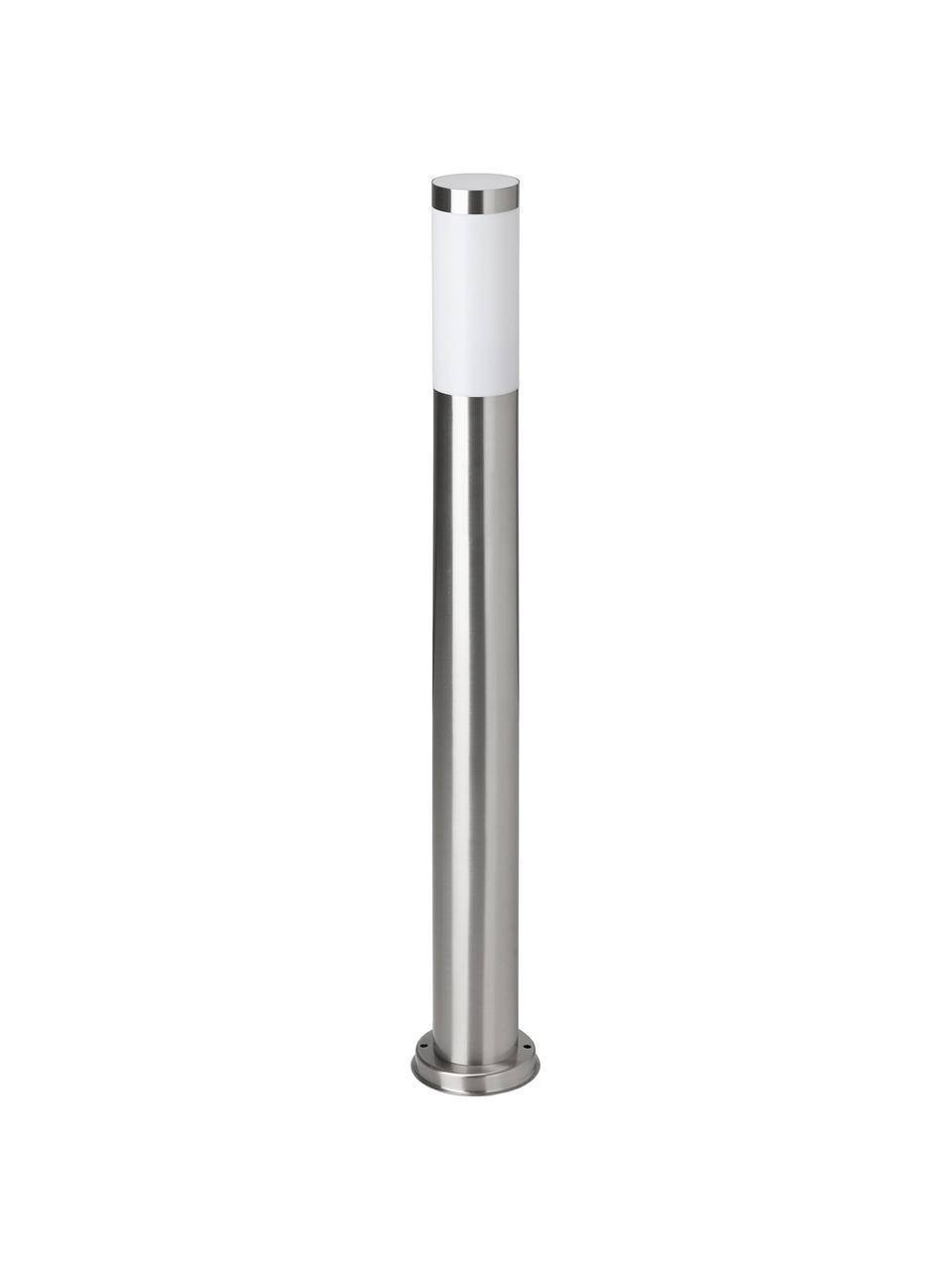Einbau-LED-Wegeleuchte Chorus, Lampenfuß: Edelstahl, Edelstahl, Weiß, Ø 8 x H 80 cm