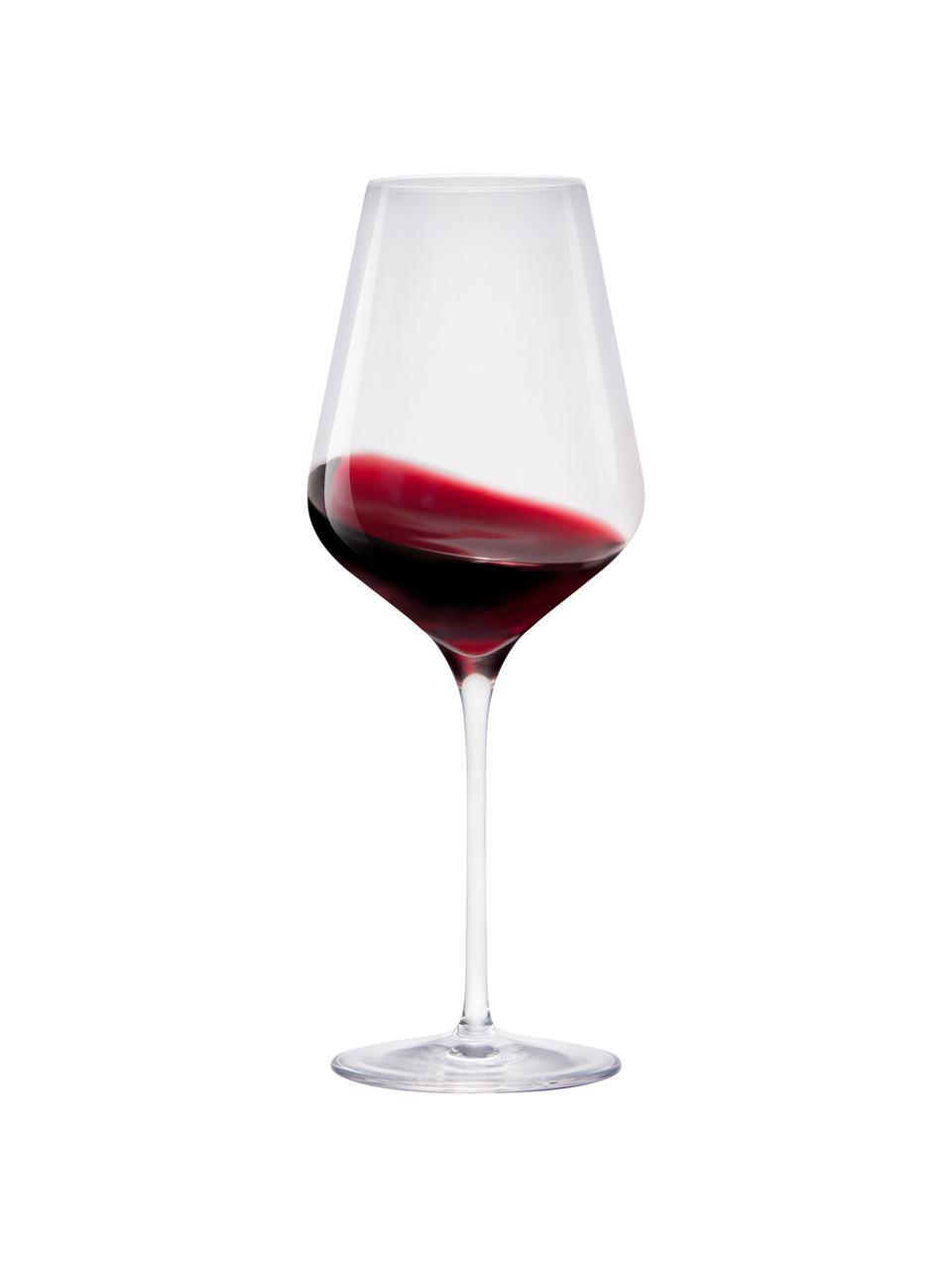 Kryształowy kieliszek do czerwonego wina Quatrophil, 6 szt., Szkło kryształowe, Transparentny, Ø 10 x W 25 cm