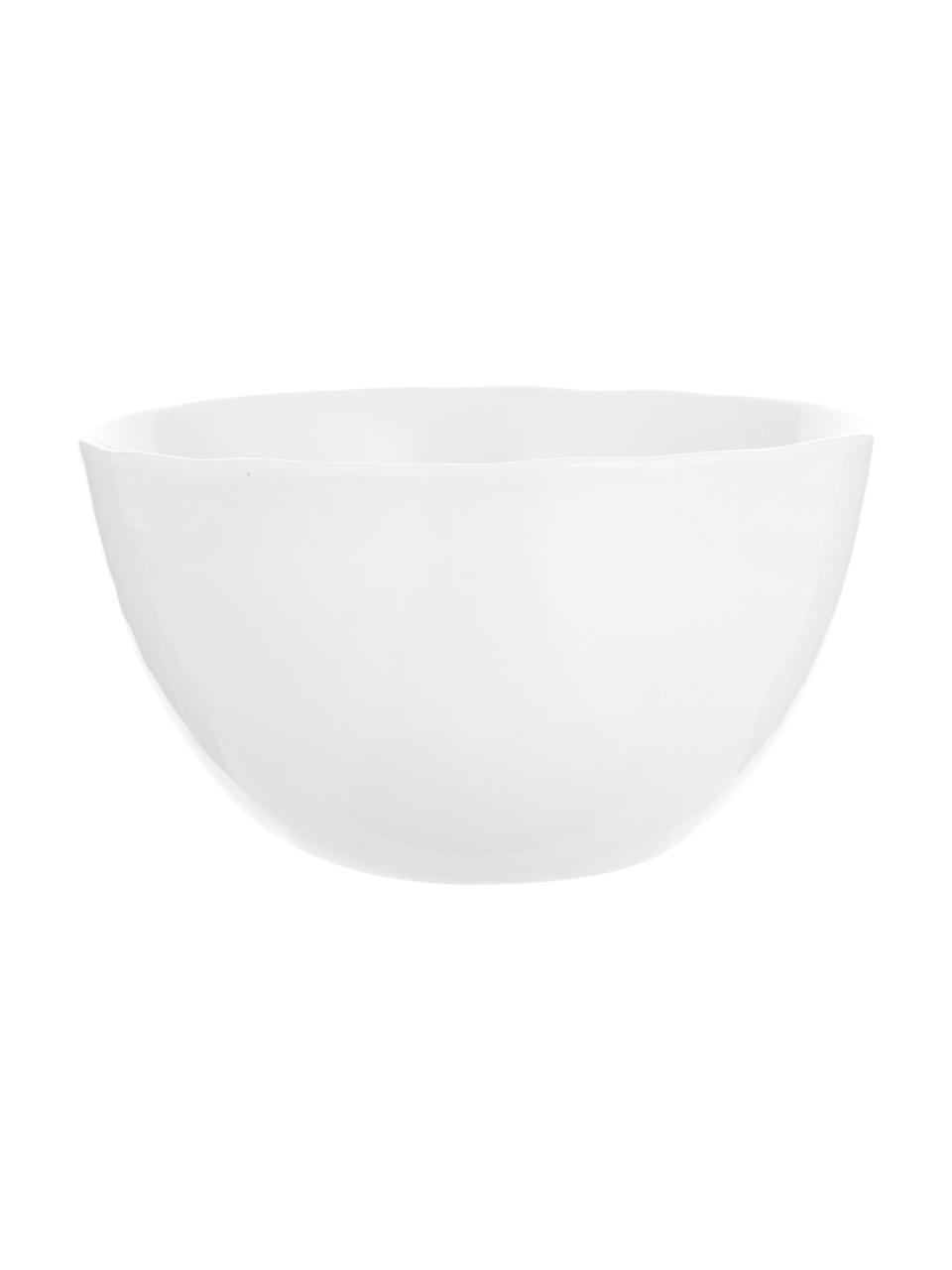 Ciotola con superficie irregolare Porcelino 6 pz, Porcellana, volutamente irregolare, Bianco, Ø 15 x Alt. 8 cm
