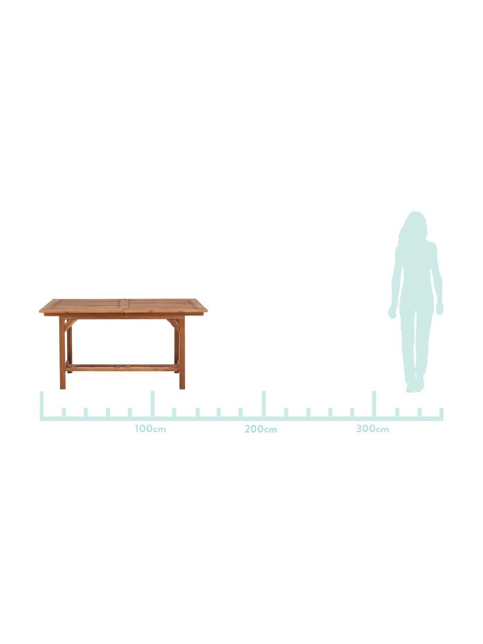 Table de jardin extensible en bois Somerset, Bois d'acacia