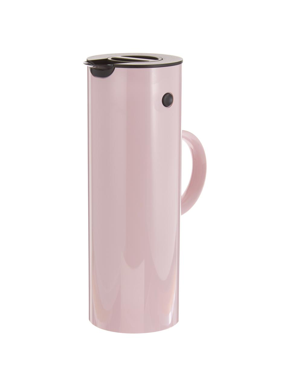 Isolierkanne EM77 in Rosa glänzend, 1 L, ABS-Kunststoff, im Inneren mit Glaseinsatz, Lavendelfarben, 1 l