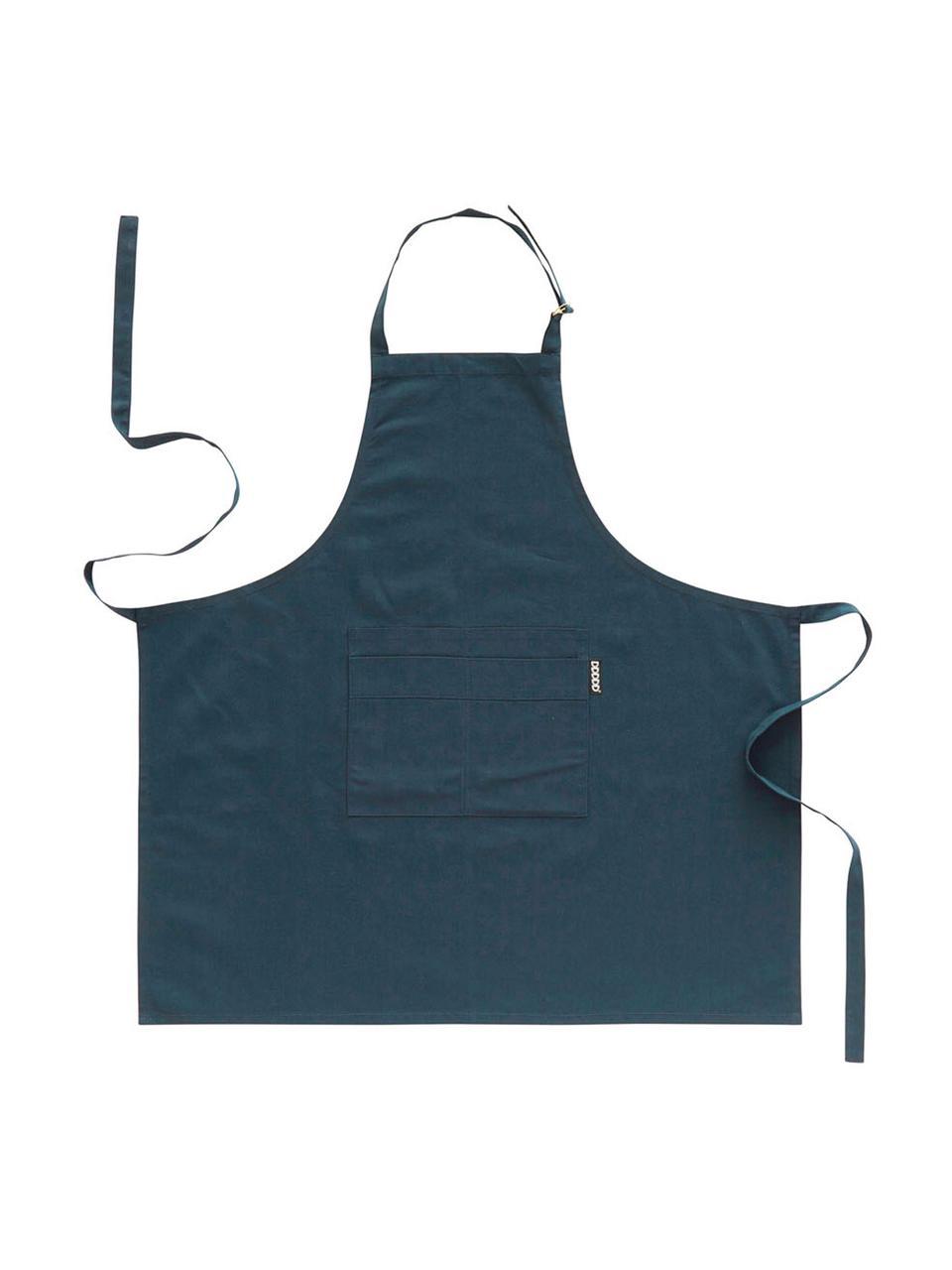 Grembiule Kit, Cotone, Blu marino, Larg. 85 x Lung. 85 cm
