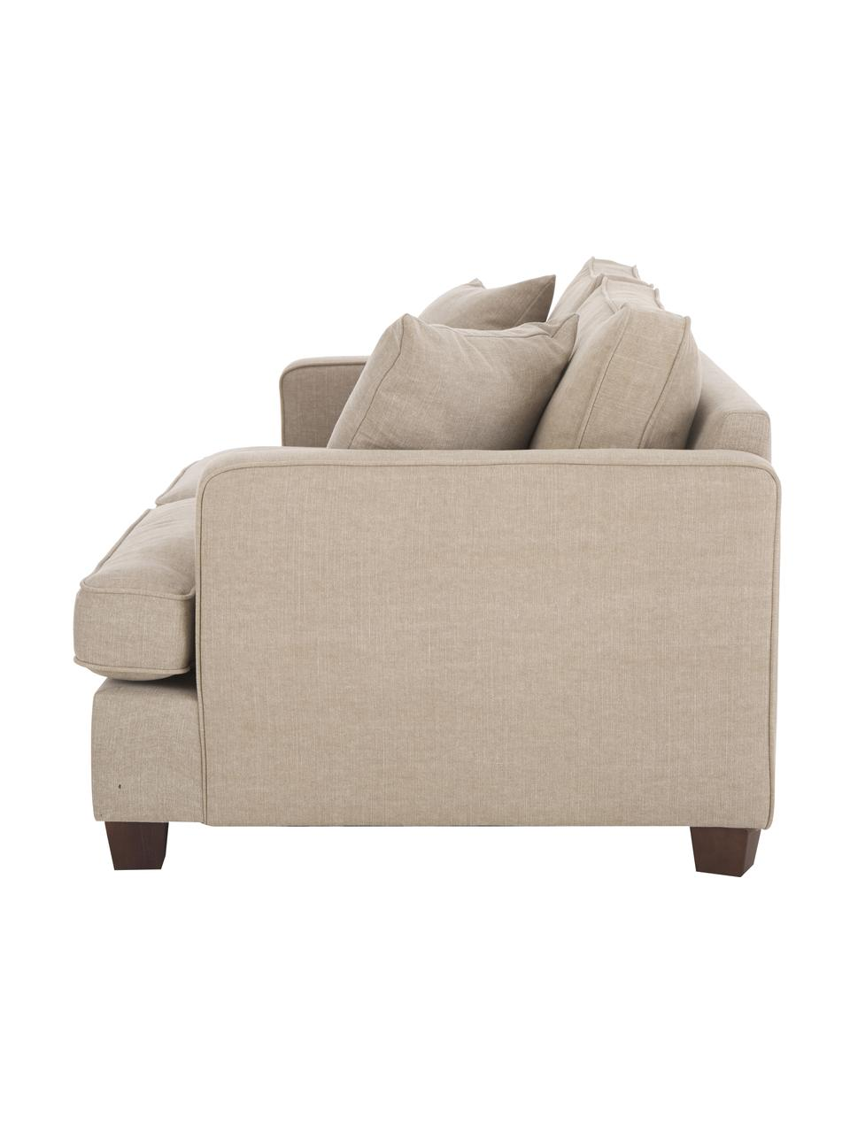 Grand canapé 2places beige Warren, Tissu beige