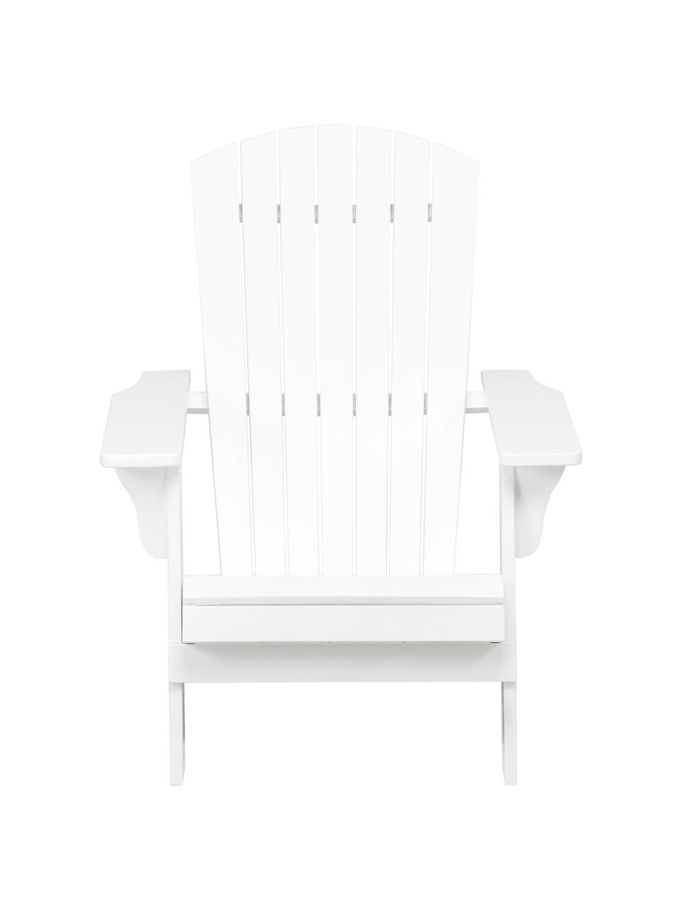 Acaciahouten tuin loungestoel Charlie in wit, Massief geolied acaciahout en gelakt, Wit, B 93  x D 74 cm