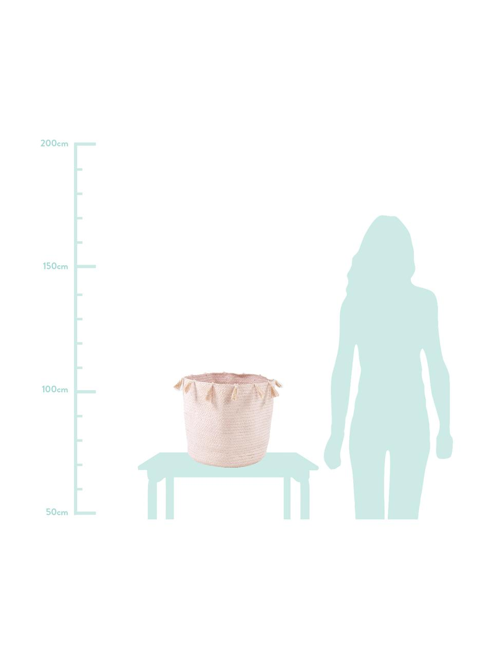 Aufbewahrungskorb Heloise, Baumwolle, Rosa, Ø 35 x H 35 cm