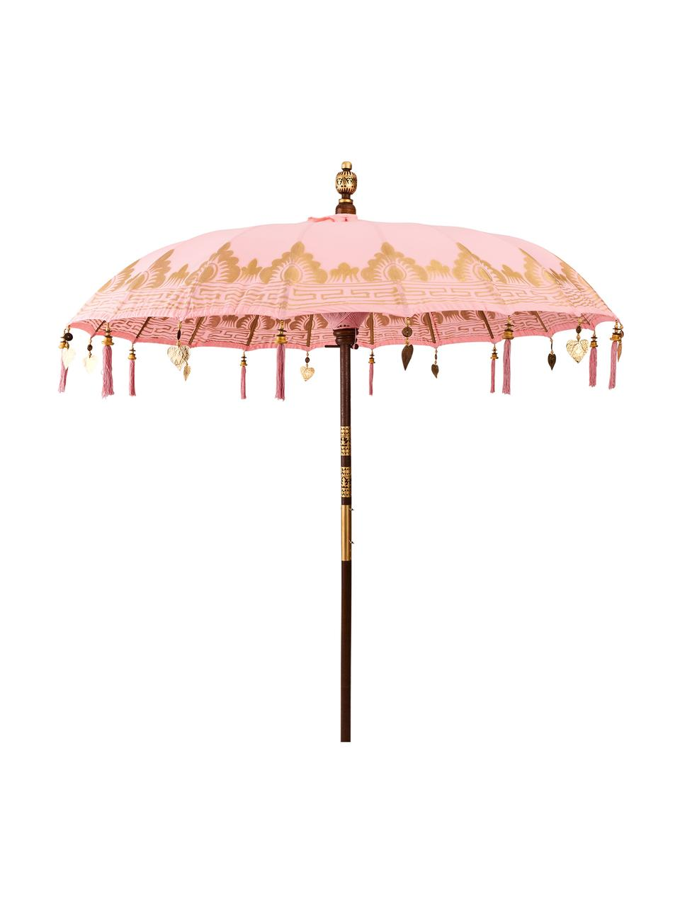 Parasol Oriental Lounge, Rose, couleur dorée, brun foncé