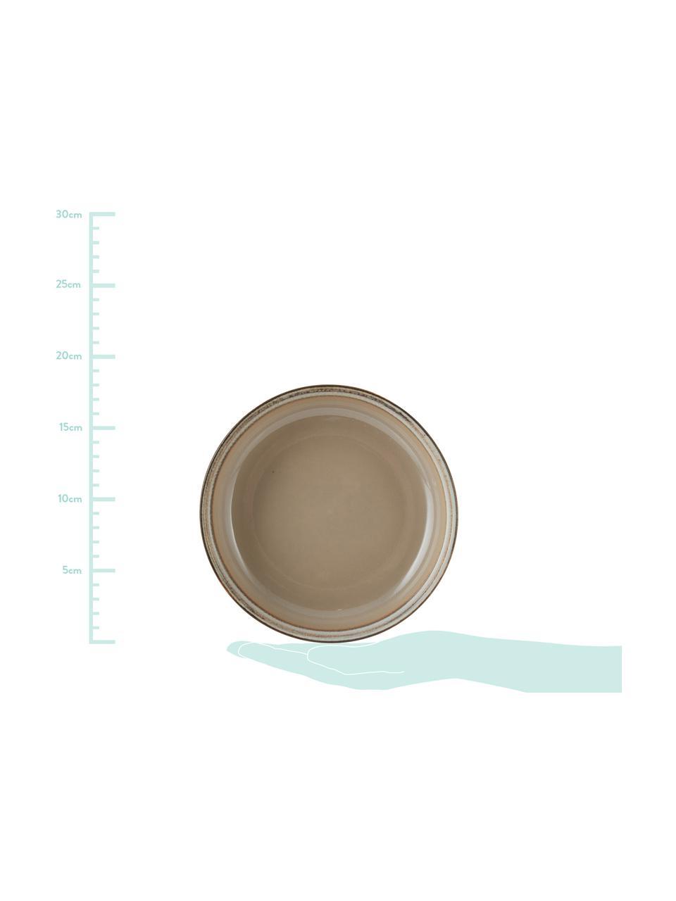 Ciotola fatta a mano beige/grigio Nomimono 2 pz, Terracotta, Grigio, grigio, Ø 18 x Alt. 6 cm