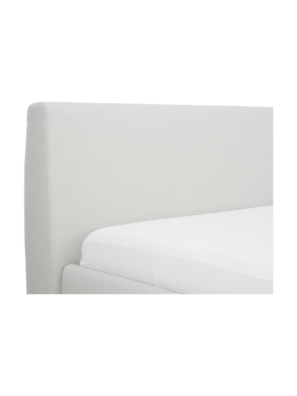 Gestoffeerd bed Cloud met opbergruimte, Frame: massief grenenhout, Bekleding: polyester (structuurmater, Beige, 180 x 200 cm