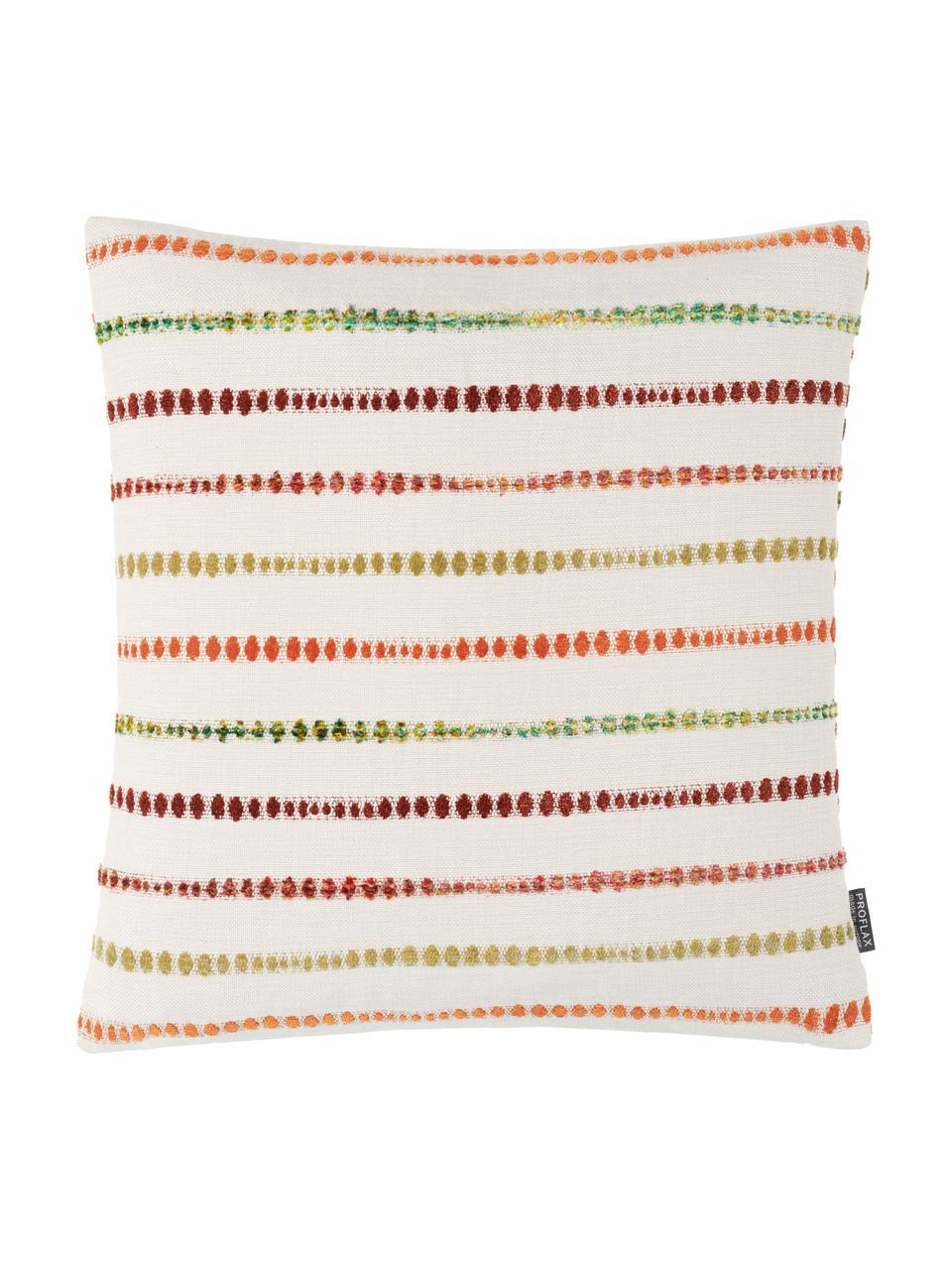 Federa arredo Alfonso, 52% poliestere, 48% cotone, Bianco, multicolore, Larg. 45 x Lung. 45 cm