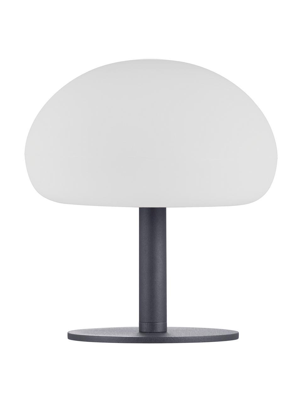 Dimmbare LED-Außentischleuchte Sponge, Lampenschirm: Kunststoff (PVC), Lampenfuß: Metall, beschichtet, Weiß, Schwarz, Ø 20 x H 22cm