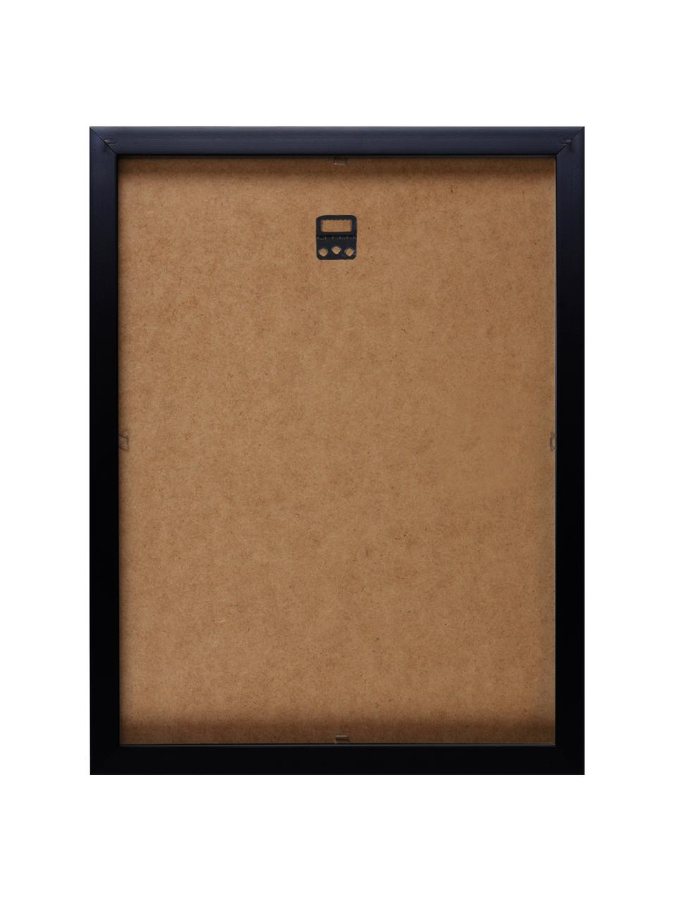 """Oprawiony druk cyfrowy Kiss """"Andy Warhol Collection"""", Stelaż: tworzywo sztuczne, Ilustracja: wielobarwny Stelaż: czarny, S 33 x W 38 cm"""