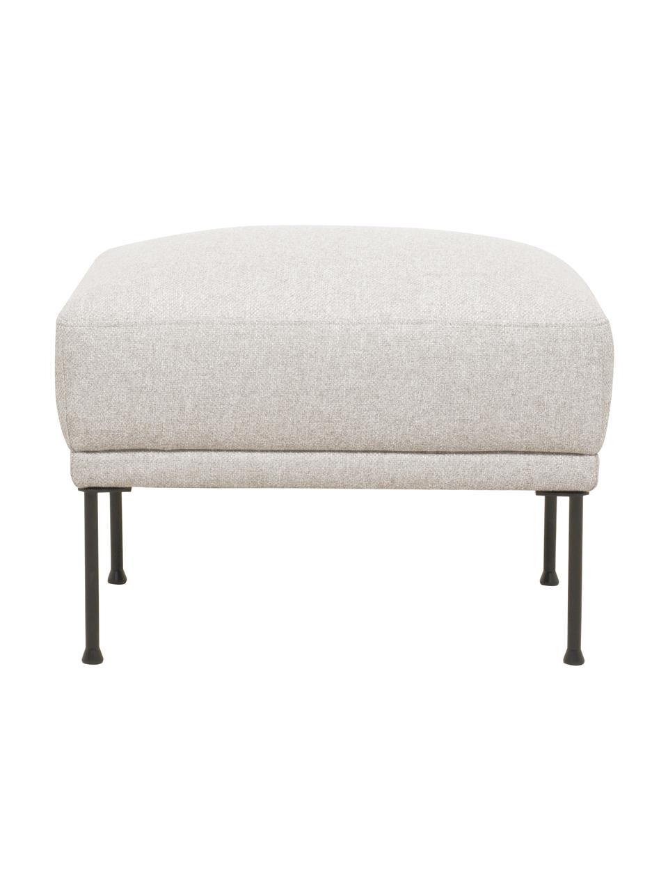 Sofa-Hocker Fluente in Beige mit Metall-Füßen, Bezug: 80% Polyester, 20% Ramie , Gestell: Massives Kiefernholz, Füße: Metall, pulverbeschichtet, Webstoff Beige, 62 x 46 cm