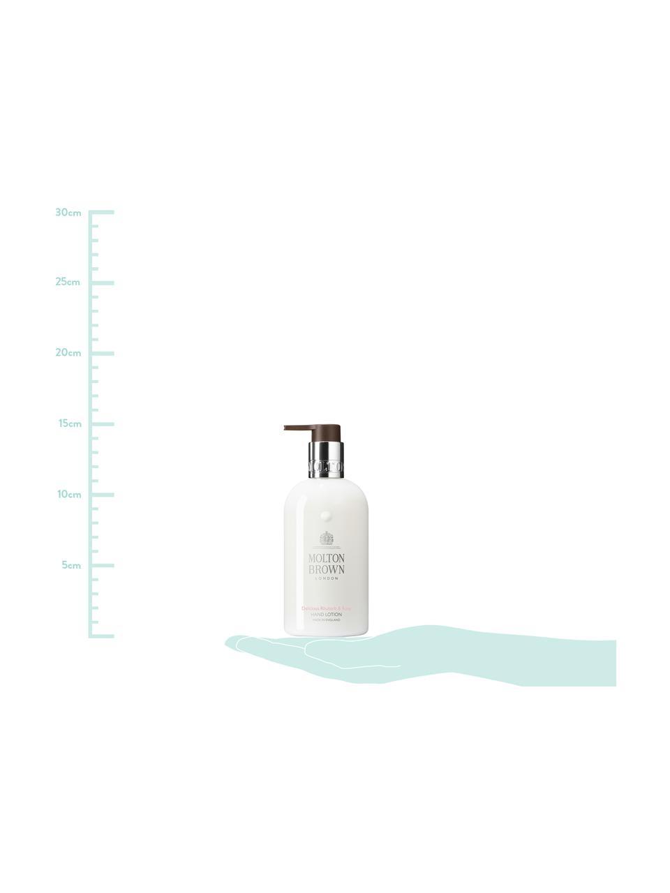 Handcreme Molton (Rhabarber & Rosa), Behälter: Recycelbarer Kunststoff, Weiß, Ø 6 x H 15 cm
