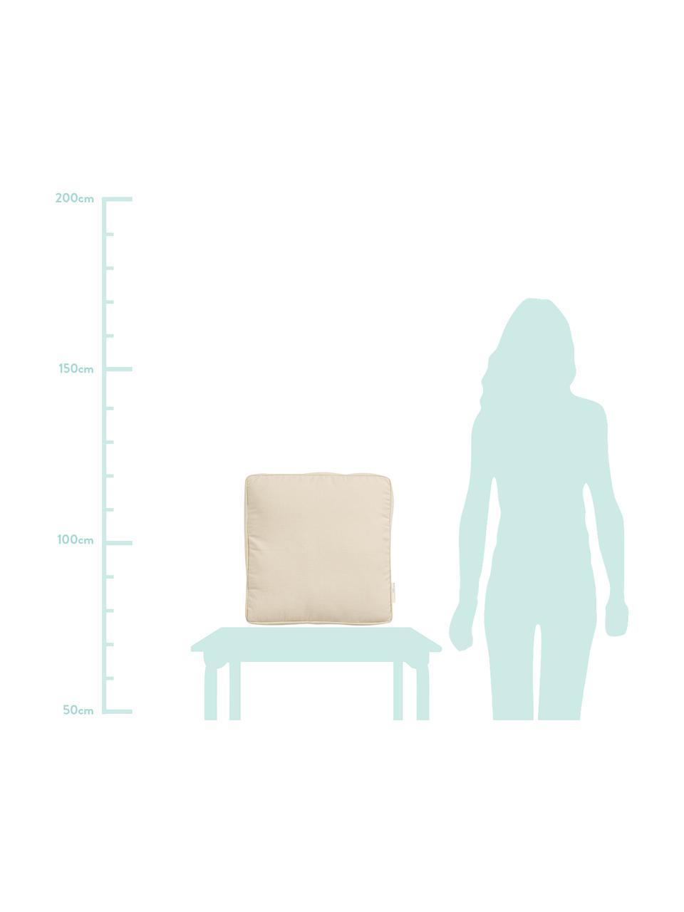 Sitzkissen Zoe, Hülle: 100% Baumwolle, Beige, 45 x 45 cm