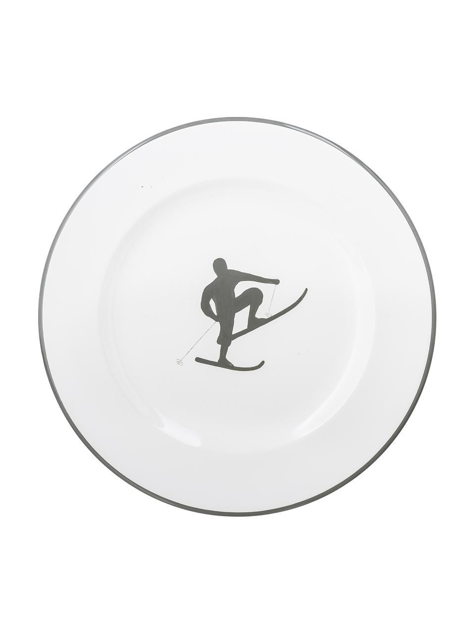 Ontbijtset Toni, 4-delig, Keramiek, Grijs, wit, Set met verschillende formaten