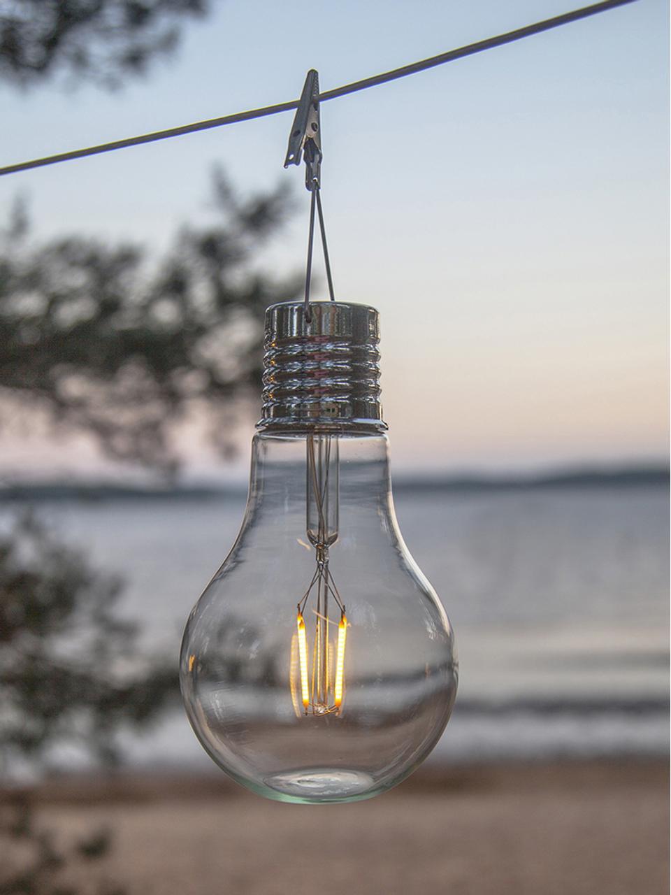 LED-Solar-Leuchtobjekte Fille, 2 Stück, Transparent, Ø 10 x H 18 cm