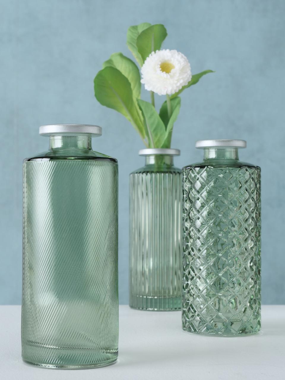 Petit vase en verre Adore, 3élém., Vert