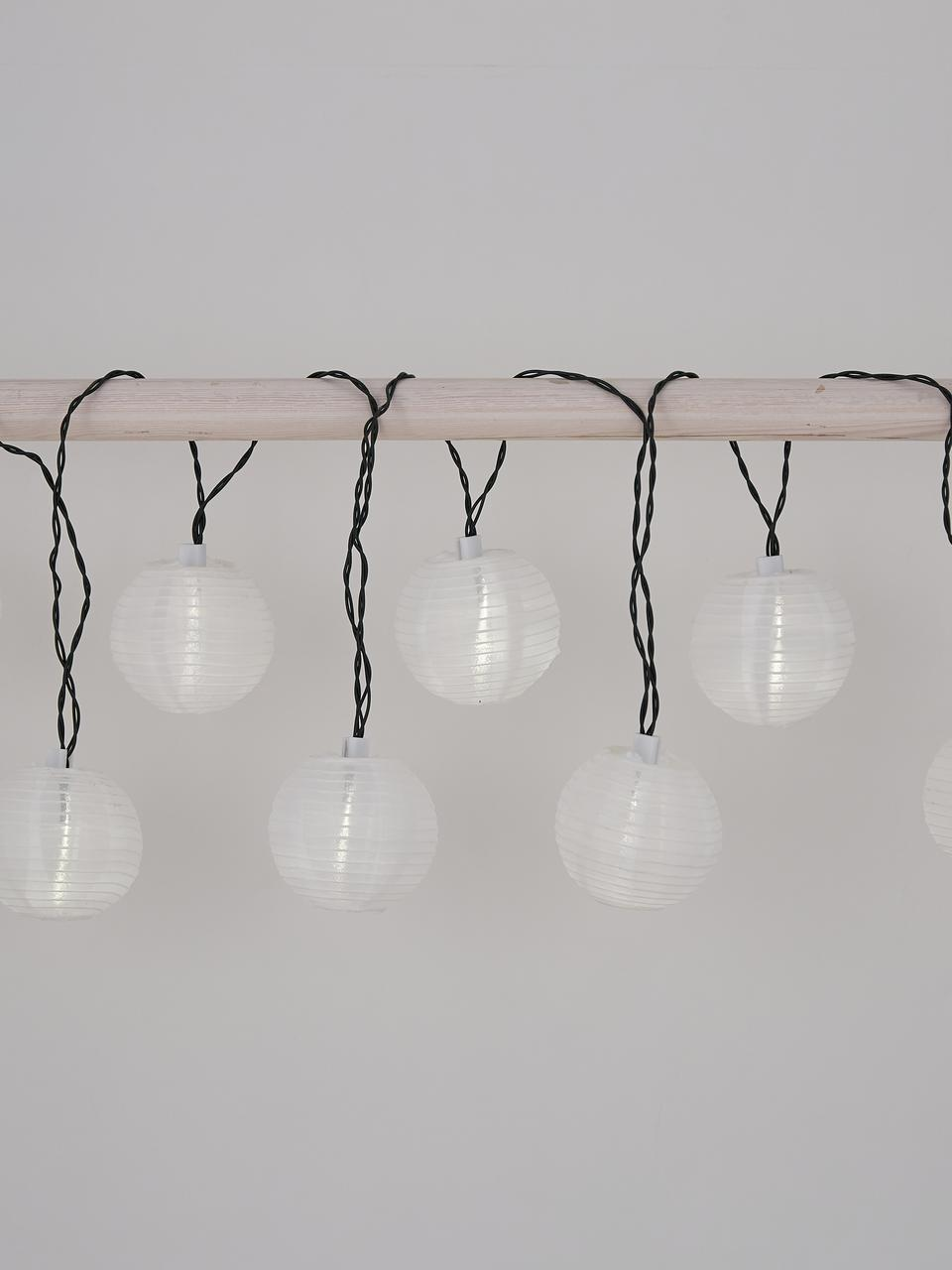 Solární světelný LED řetěz Kosmos, 430 cm, Černá, bílá