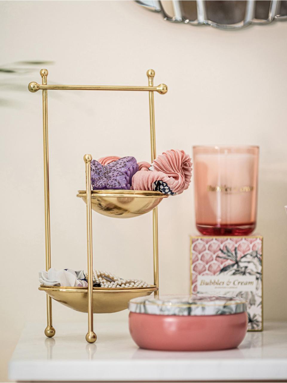 Duftkerze Allure (Tuberose, Jasmin, Zedernholz), Box: Papier, Behälter: Glas, Rosa, Mehrfarbig, 9 x 12 cm