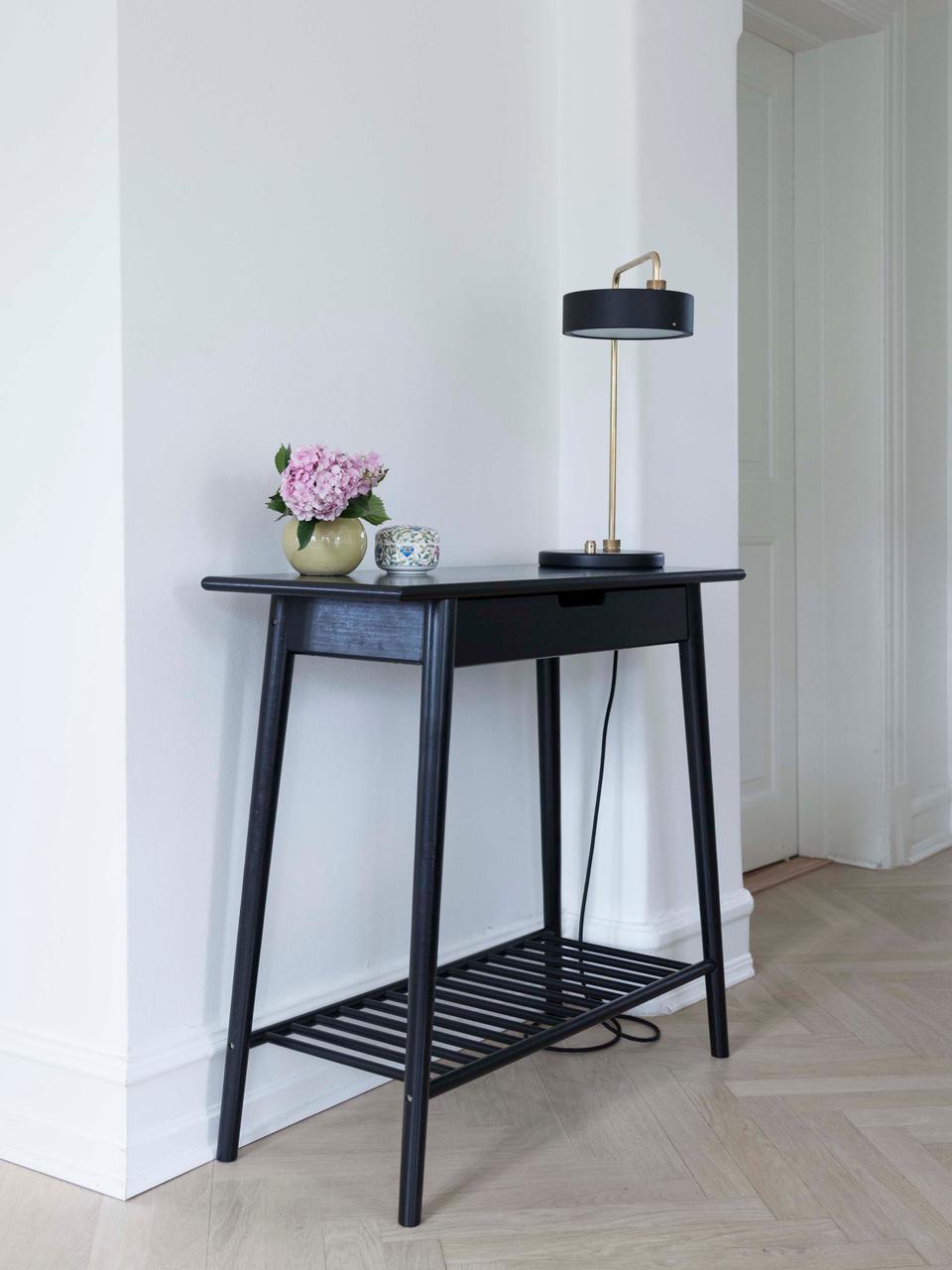 Console en bambou avec tiroir Noble, Noir