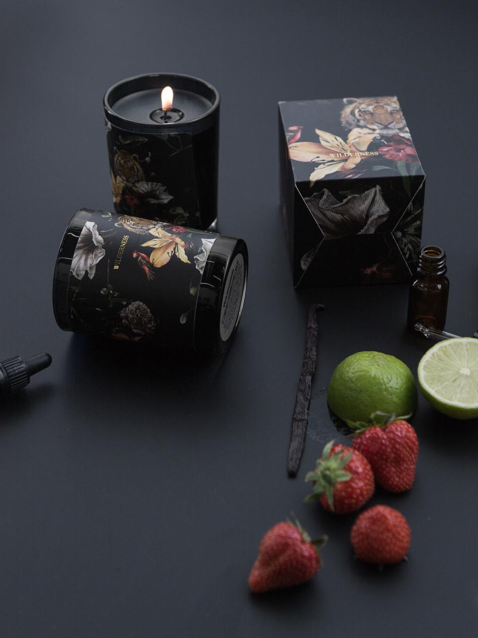 Bougie parfumée Wilderness (ananas et fruit de la passion), Noir