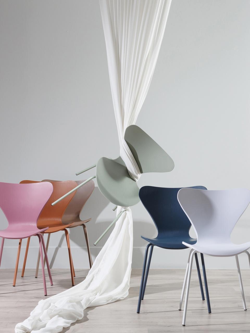 Chaises en plastique Pippi, 2pièces, Menthe