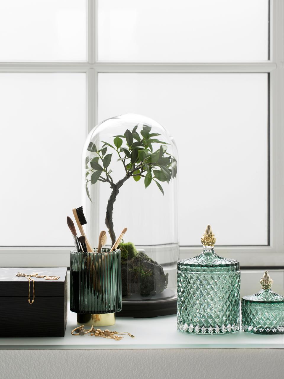 Pojemnik do przechowywania Miya, Szkło, Zielony, Ø 11 x W 18 cm