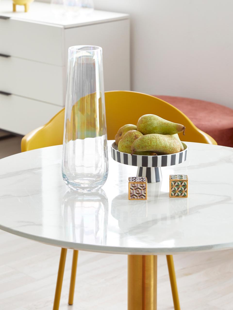 Set saliera e pepiera Versailles 2 pz, Porcellana, placcato in oro  24 carati, Porpora, verde, oro, Larg. 5 x Alt. 5 cm