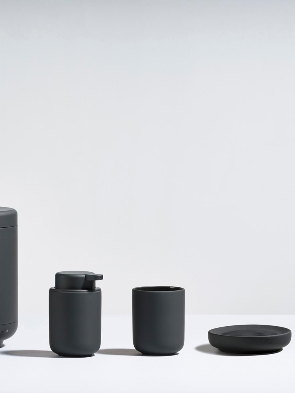 Portasapone in porcellana Ume, Porcellana, Nero, Ø 12 x Alt. 3 cm