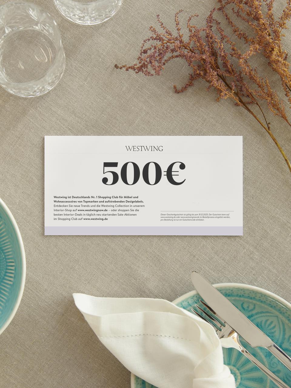 Gutscheinkarte, Gutschein auf edlem Papier, in hochwertigem Kuvert, Weiß, 500
