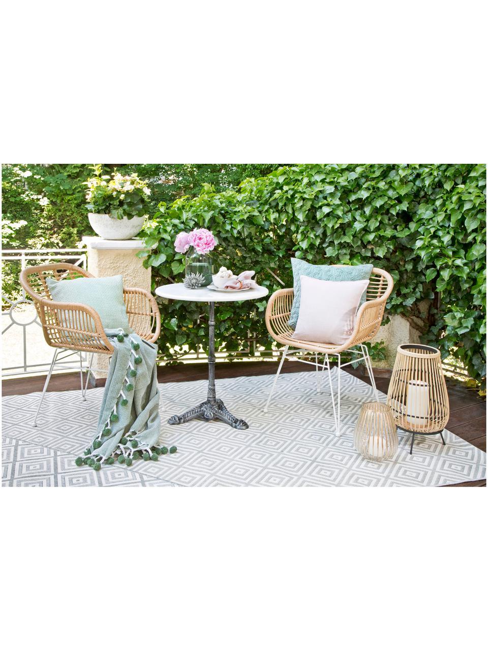Table de jardin en marbre Loire, Blanc