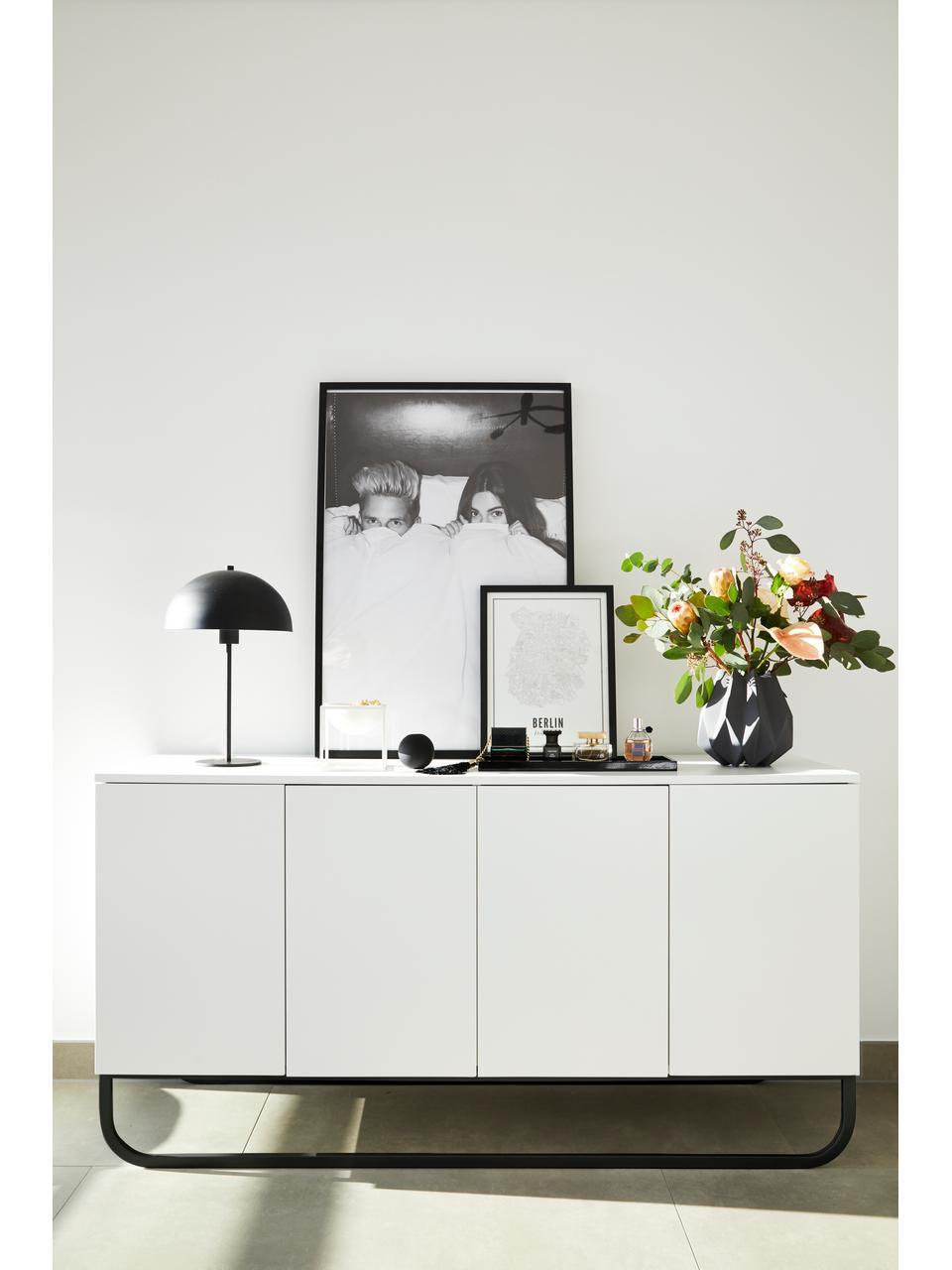 Credenza bianca Sanford, Bianco, Larg. 160 x Alt. 83 cm