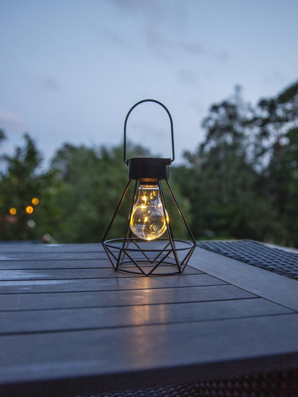 Solární venkovní svítidlo Eddy, Černá