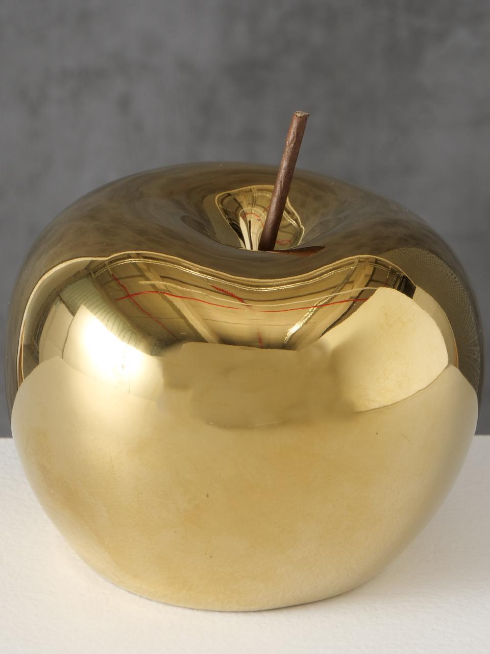 Decoratief object Nesta , Porselein, Goudkleurig, Ø 15 x H 14 cm