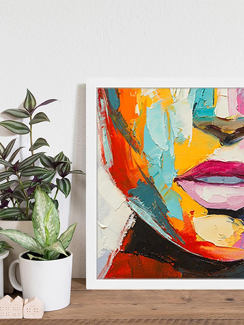 Impression numérique encadrée Colorful Emotions, Multicolore