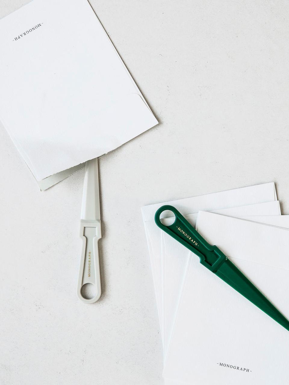 Tagliacarte Ligra, Materiale sintetico, Grigio chiaro, Larg. 3 x Alt. 17 cm
