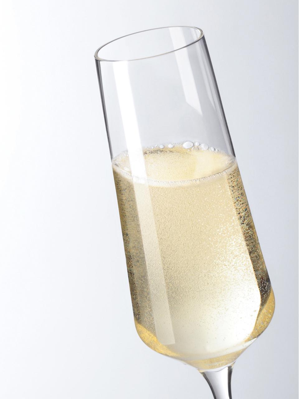 Flûtes à champagne résistantes Puccini, 6pièces, Transparent