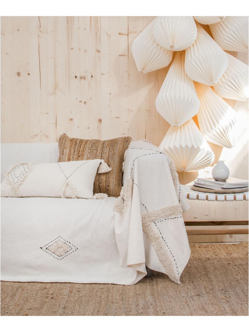 Funda de cojín Lienzo, 100%algodón, Blanco crudo, An 30 x L 60 cm