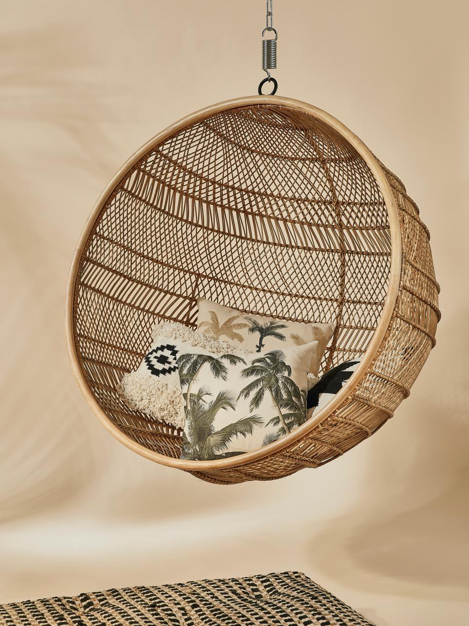 Rotan hangstoel Structure, Rotankleurig, Ø 108 x D 83 cm