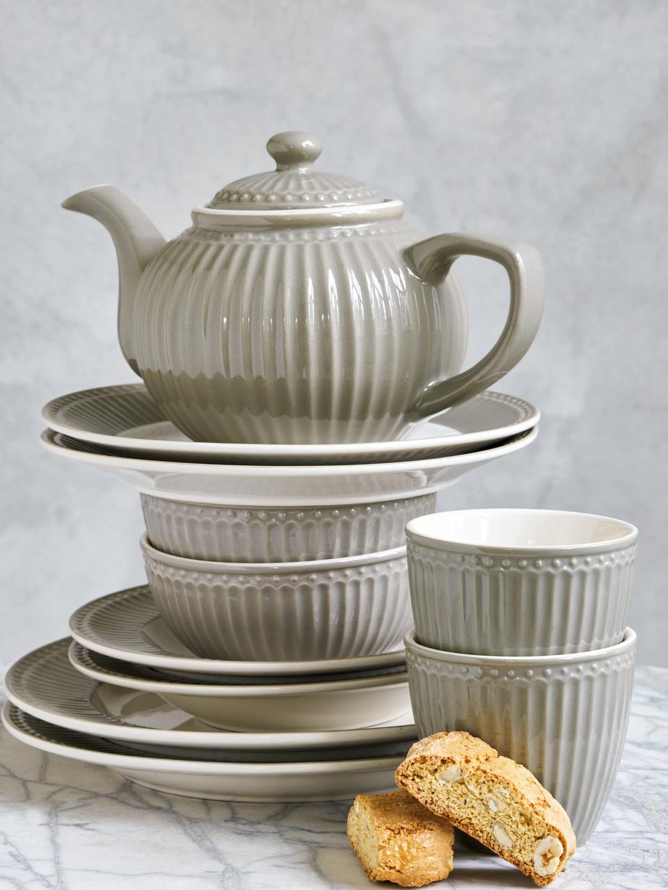 Mugs en porcelaine Alice, 2pièces, Gris