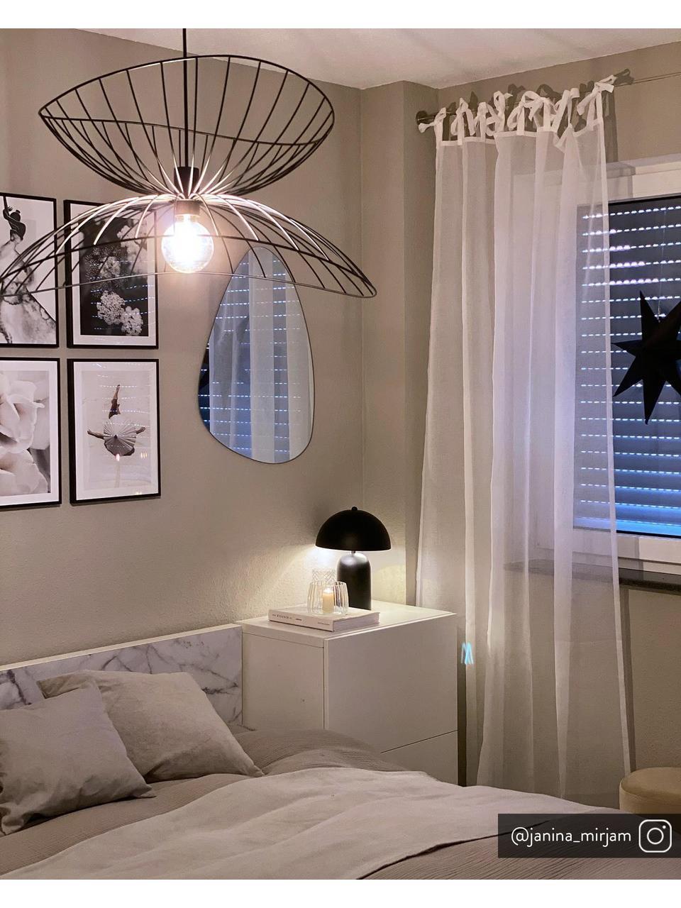 Design Pendelleuchte Ray, Lampenschirm: Metall, beschichtet, Baldachin: Metall, Schwarz, Ø 45 x H 25 cm