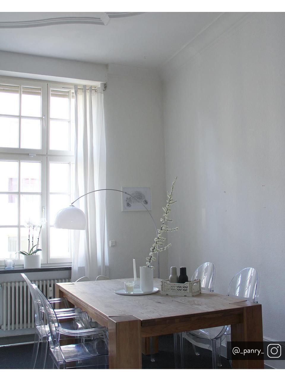 Silla con reposabrazos Ghost, Policarbonato, Transparente, An 54 x Al 94 cm