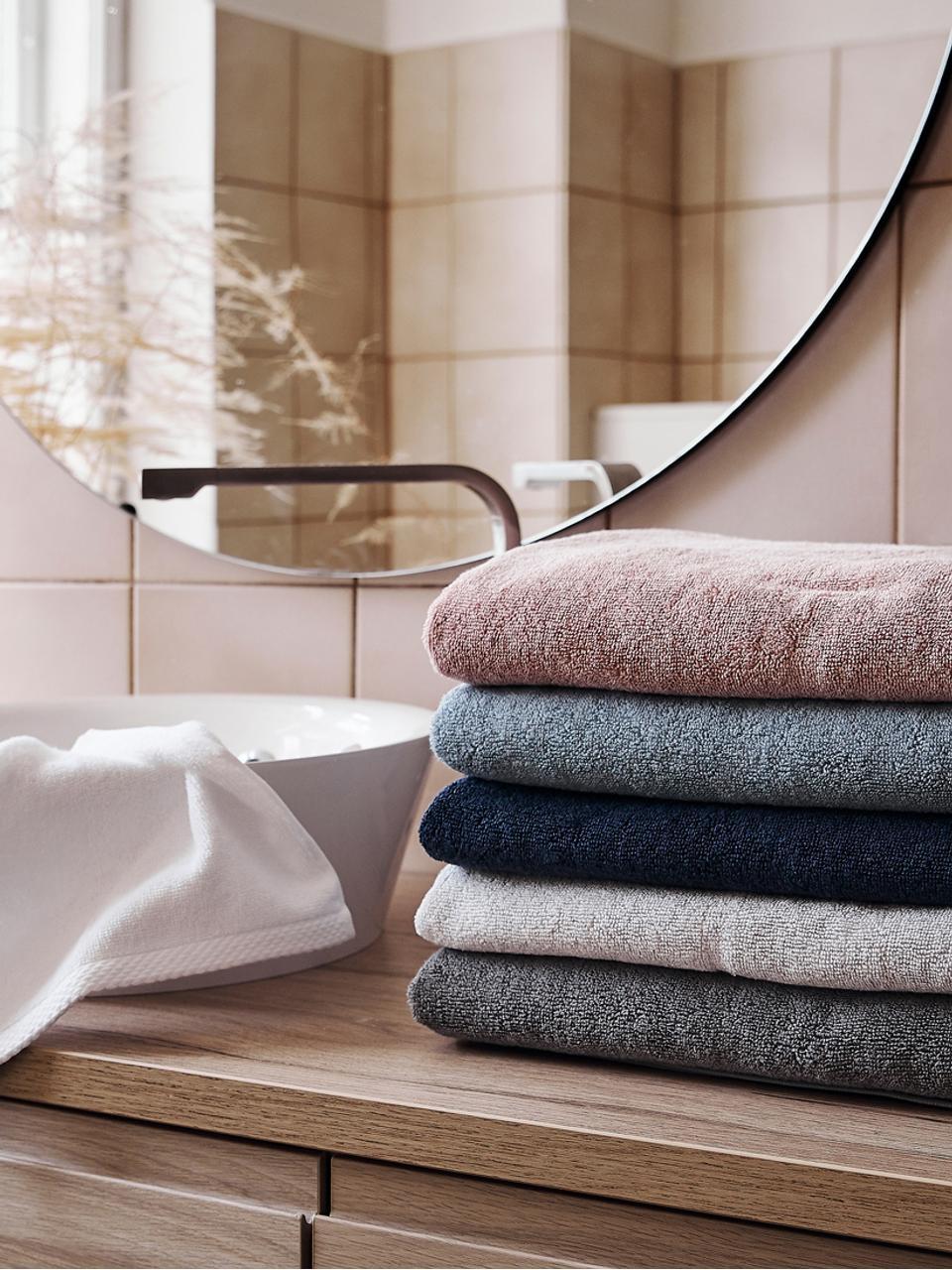 Set de toallas Comfort, 3pzas., Azul oscuro, Set de diferentes tamaños