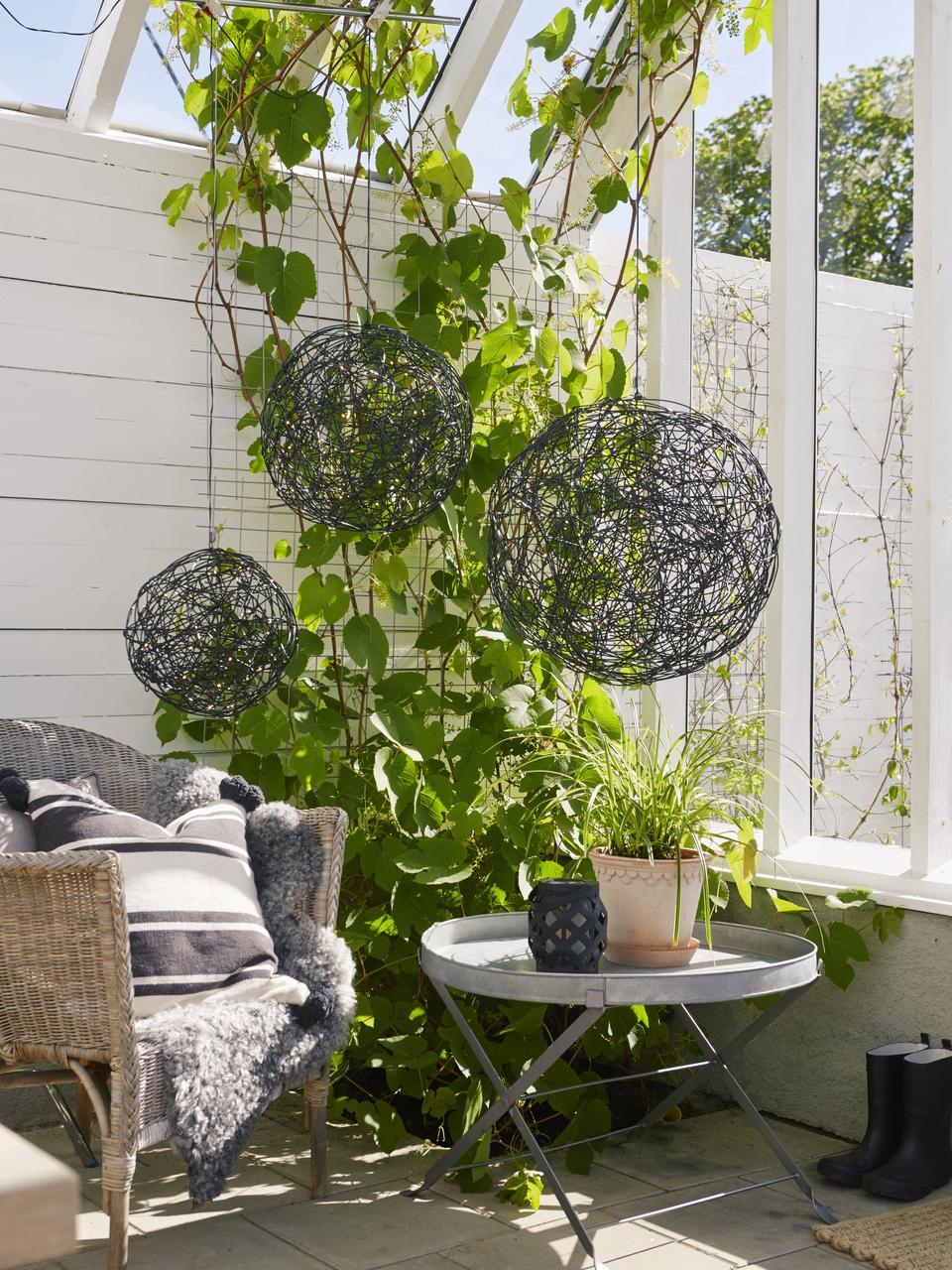Lampada a LED da esterno con spina Trassel, Lampada: metallo, alluminio, Nero, Ø 30 x Alt. 30 cm