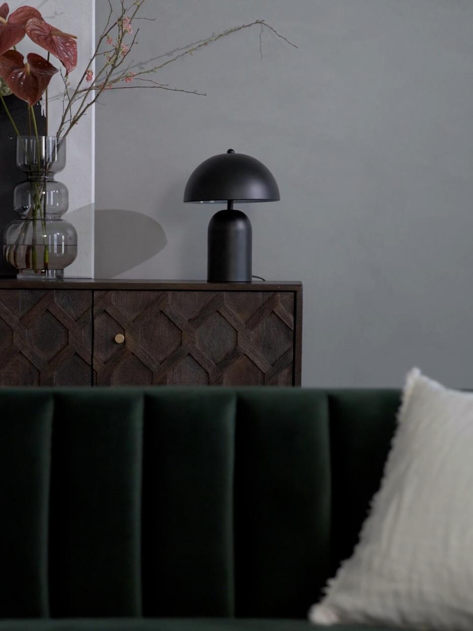 Petite lampe de nuit noireWalter, Noir mat