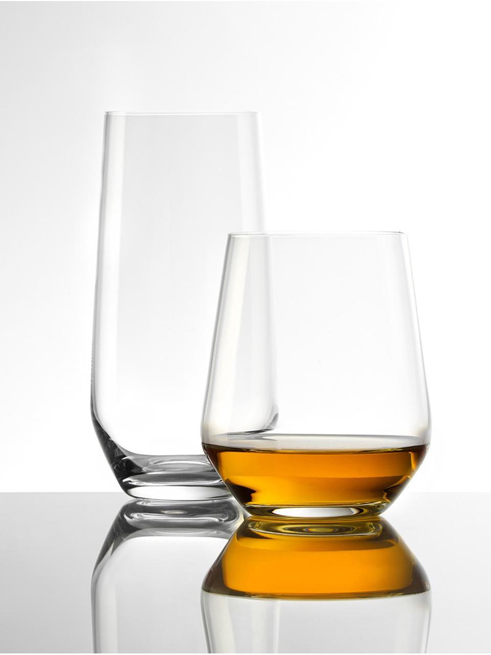 Bauchige Kristallgläser Revolution, 6 Stück, Kristallglas, Transparent, Ø 9 x H 11 cm