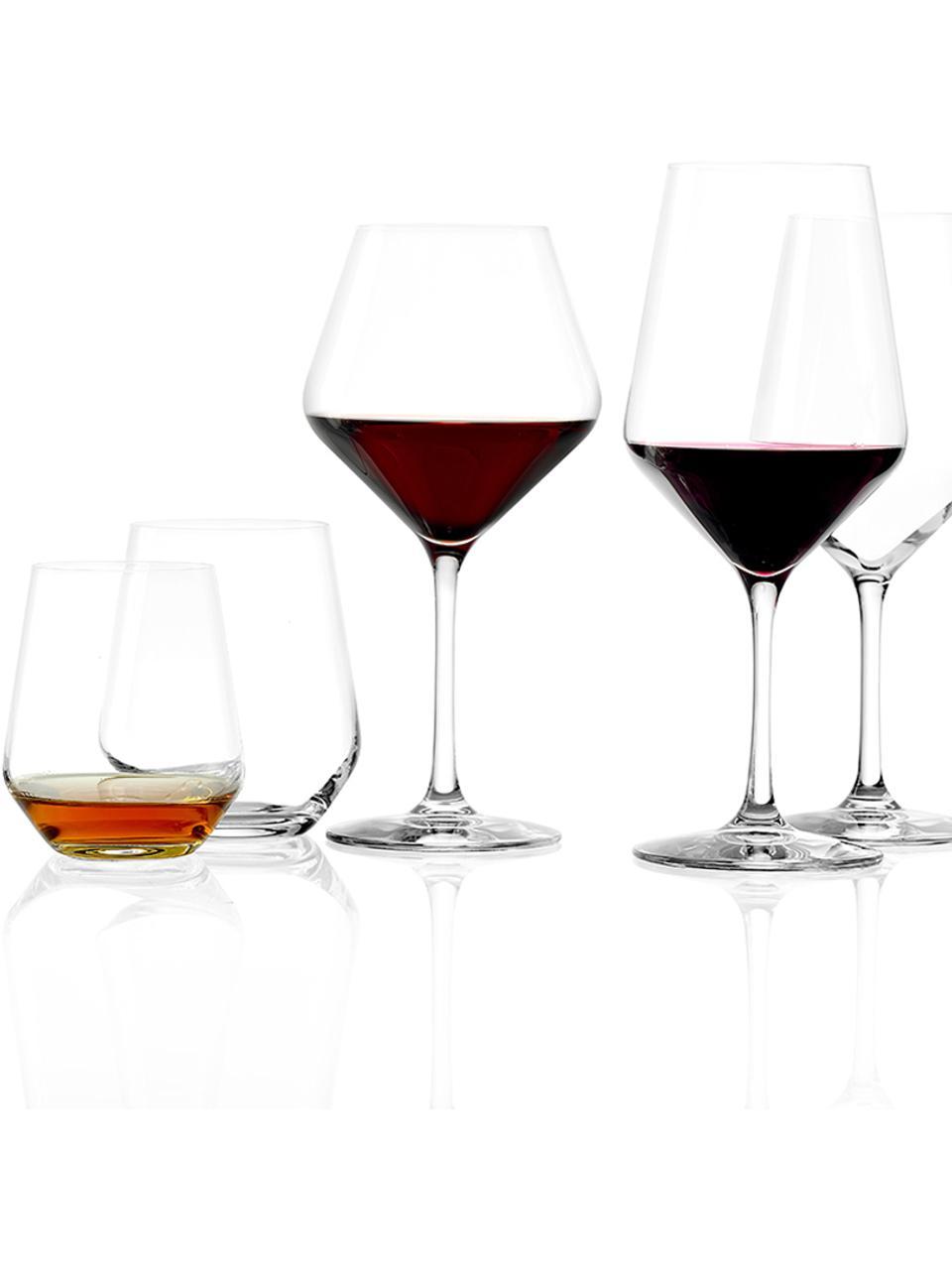Verres à eau en cristal Revolution, 6 pièces, Transparent